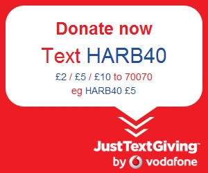 Donate: Text HARBO40, £2, £5 or £10 to 70070